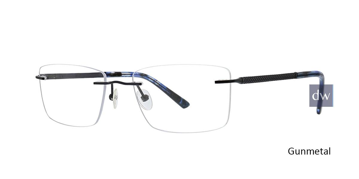 Gunmetal Totally Rimless 302 Bypass Eyeglasses.