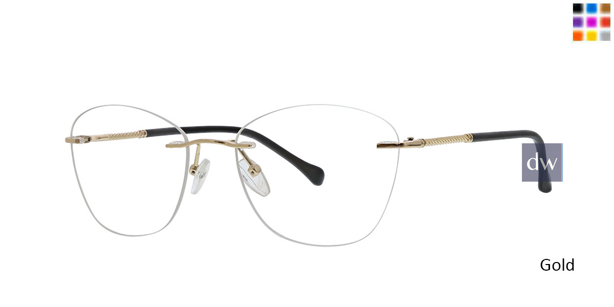 Gold Totally Rimless 303 Milano Eyeglasses.