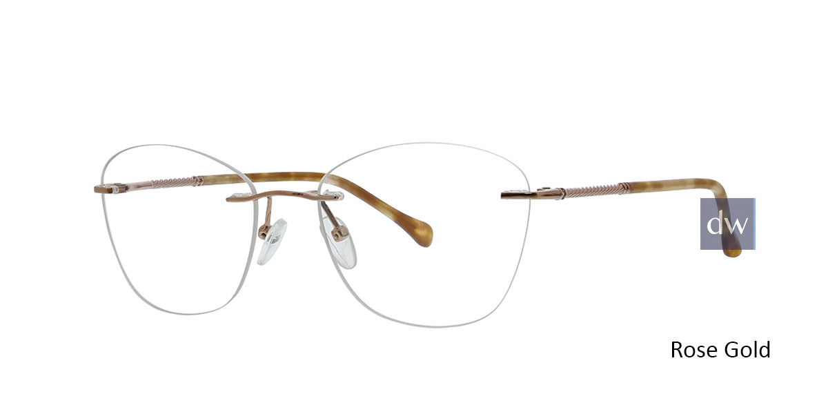 Rose Gold Totally Rimless 303 Milano Eyeglasses.