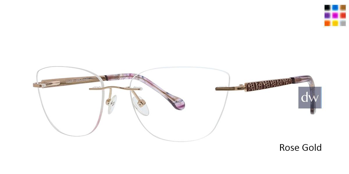 Rose Gold Totally Rimless 304 Cameo Eyeglasses.