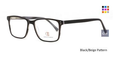Black/Beige Pattern CIE SEC145 Eyeglasses.