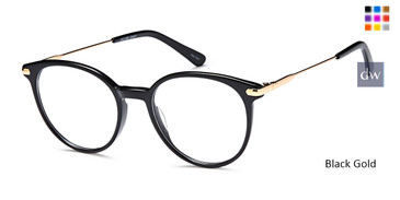 Black Gold Capri DC186 Eyeglasses - Teenager