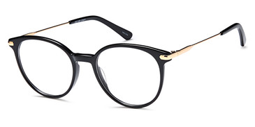 Black Gold Capri Dicaprio DC186 Eyeglasses - Teenager