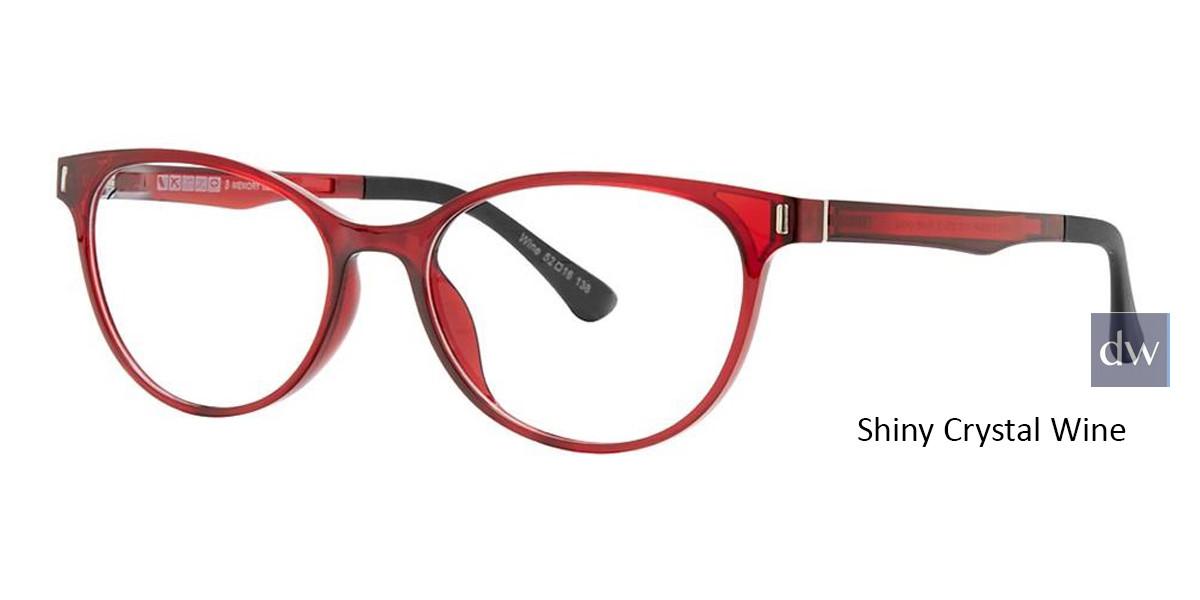 Shiny Crystal Wine Vivid Collection 2033 Eyeglasses