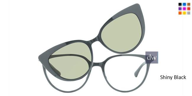 Shiny Black Vivid Collection 6021 Eyeglasses