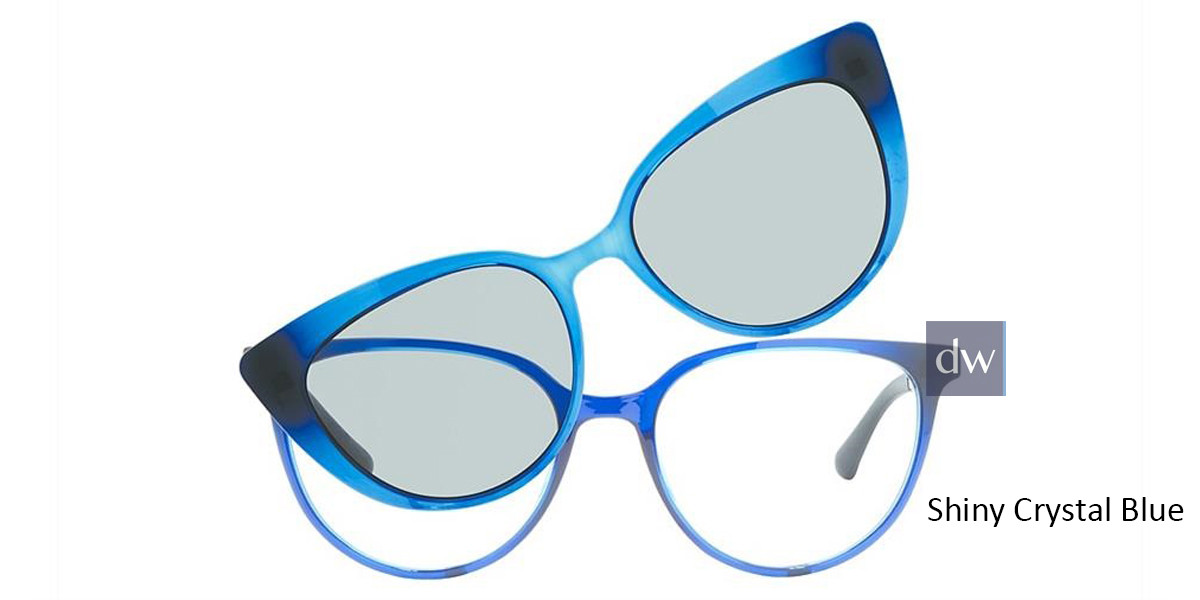 Shiny Crystal Blue Vivid Collection 6021 Eyeglasses