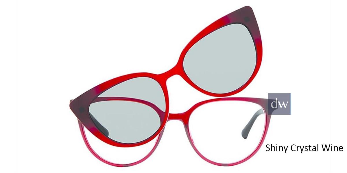 Shiny Crystal Wine Vivid Collection 6021 Eyeglasses