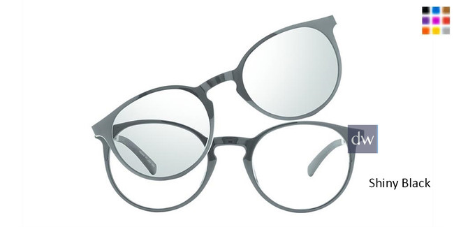 Shiny Black Vivid Collection 6022 Eyeglasses - Teenager