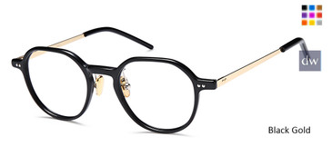 Black Gold Capri DC335 Eyeglasses - Teenager
