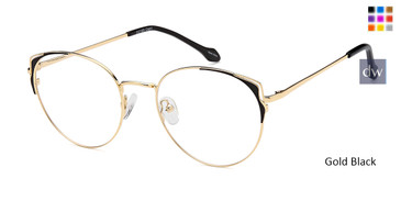 Gold Black Capri DC183 Eyeglasses
