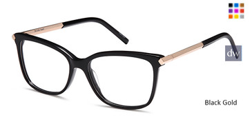 Black Gold Capri DC332 Eyeglasses