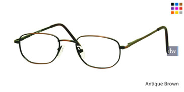 Antique/Brown Gallery G522 Eyeglasses - Teenager