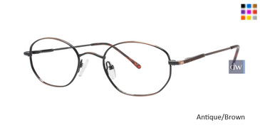 Antique/Brown Gallery G502 Eyeglasses - Teenager