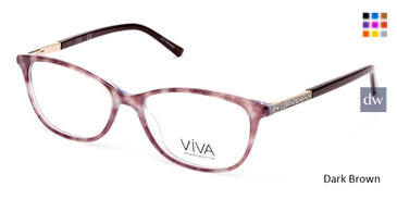 Dark Brown Viva VV4509 Eyeglasses.