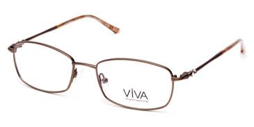 Matte Light Brown Viva VV4510 Eyeglasses.