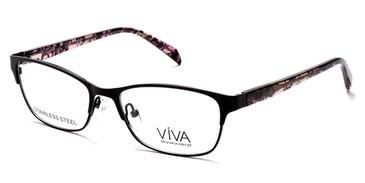 Matte Black Viva VV4518 Eyeglasses.