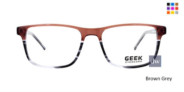 Brown Grey GEEK FEBRUARY Eyeglasses