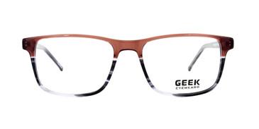Brown Grey GEEK FEBRUARY Eyeglasses