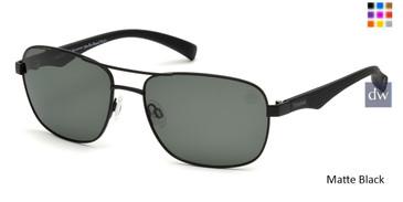 Matte Black Timberland TB9136 Sunglasses.