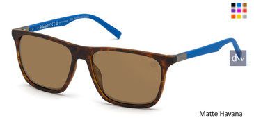 Matte Havana Timberland TB9198 Sunglasses.