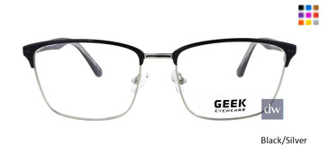 Black/Silver GEEK JAZZ Eyeglasses