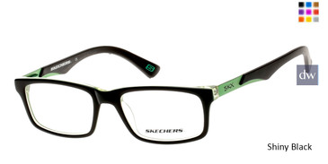 Shiny Black Skechers SE1095 Eyeglasses - Teenager.