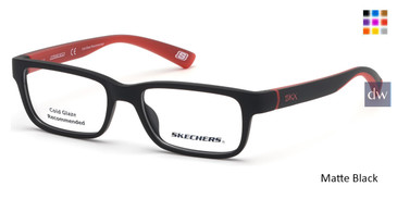 Matte Black Skechers SE1157 Eyeglasses.
