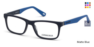 Matte Blue Skechers SE1158 Eyeglasses.