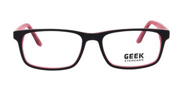 Black/Red GEEK SQUARED Eyeglasses