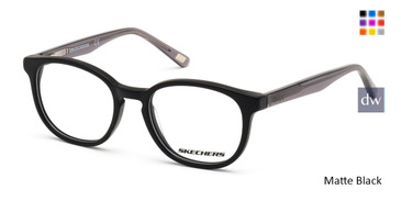 Matte Black Skechers SE1163 Eyeglasses.