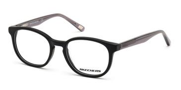 Matte Black Skechers SE1163 Eyeglasses.