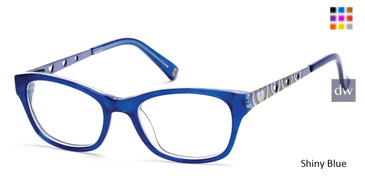Shiny Blue Skechers SE1601 Eyeglasses.