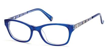 Shiny Blue Skechers SE1601 Eyeglasses.