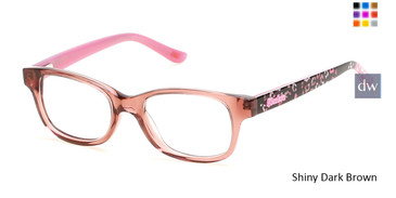 Shiny Dark Brown Skechers SE1604 Eyeglasses.