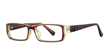 Dark Brown/Light Brown Vivid Soho 115 Eyeglasses.