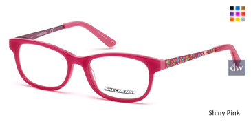 Shiny Pink Skechers SE1636 Eyeglasses.