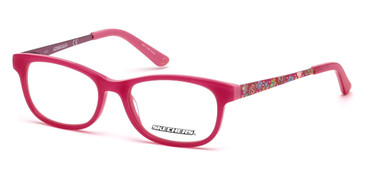 Shiny Pink Skechers SE1636 Eyeglasses.