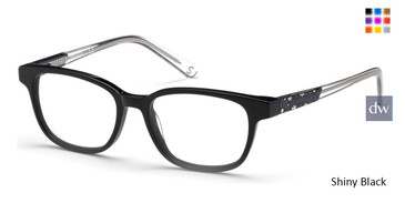 Shiny Black Skechers SE1639 Eyeglasses.
