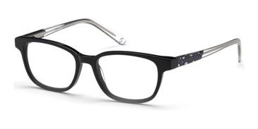 Shiny Black Skechers SE1639 Eyeglasses.