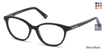 Shiny Black Skechers SE1640 Eyeglasses - Teenager.