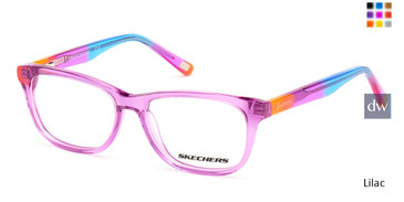 Lilac Skechers SE1643 Eyeglasses.