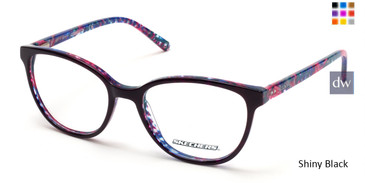 Shiny Black Skechers SE2137 Eyeglasses.