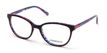 Shiny Black Skechers SE2137 Eyeglasses.