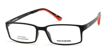 Matte Black Skechers SE3175 Eyeglasses.