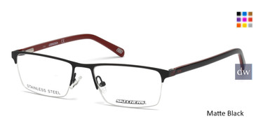 Matte Black Skechers SE3195 Eyeglasses.
