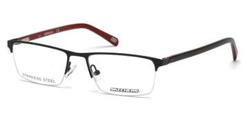 Matte Black Skechers SE3195 Eyeglasses.