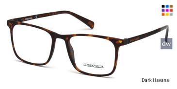 Dark Havana Skechers SE3216 Eyeglasses.