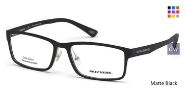 Matte Black Skechers SE3225 Eyeglasses.