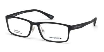 Matte Black Skechers SE3225 Eyeglasses.