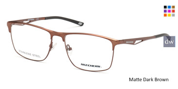 Matte Dark Brown Skechers SE3246 Eyeglasses.